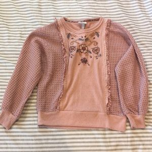 Knox Rose (Target) Pink Embroidered Sweater